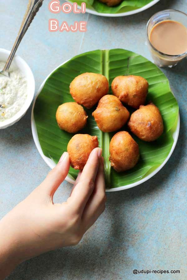 Popular snack of Udupi Goli baje