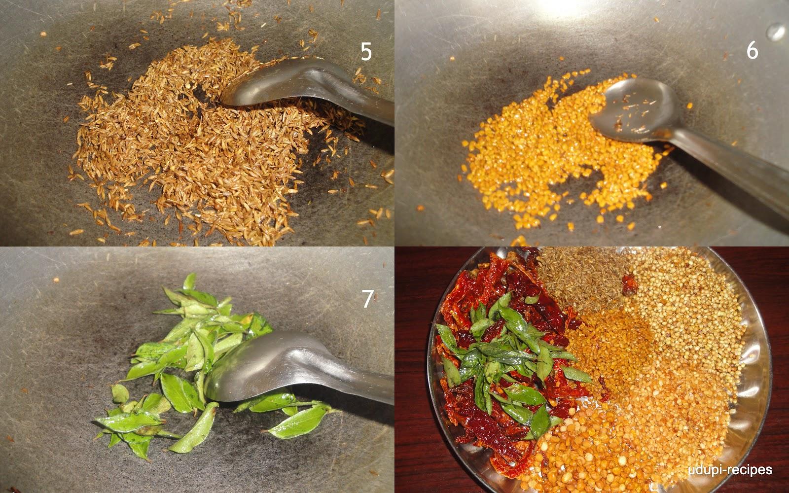Udupi Sambar Powder Recipe How to make sambar powder?Udupi