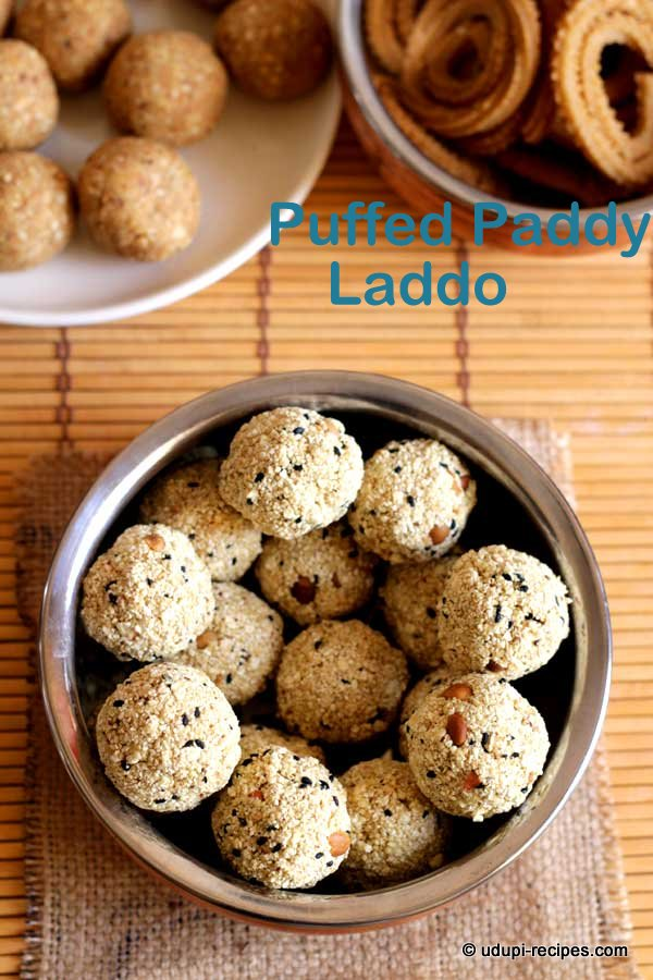 puffed paddy laddo ready