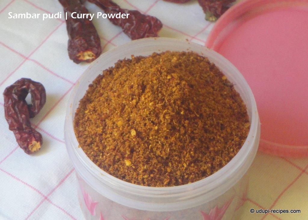 Udupi Sambar Powder Recipe-How to make sambar powder?