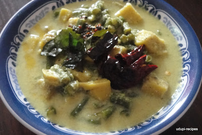 Avial / Avial Recipe in Udupi style