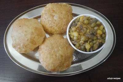 Poori Recipe-Sweet Sagu Recipe