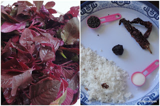 Red amaranth Recipes-Red amaranth leaves curry