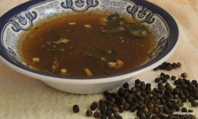 Nursing mother foods- Black Pepper rasam recipe