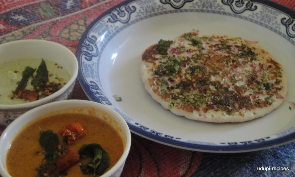 Uttapam/Onion Uttapam Recipe- Breakfast Recipes