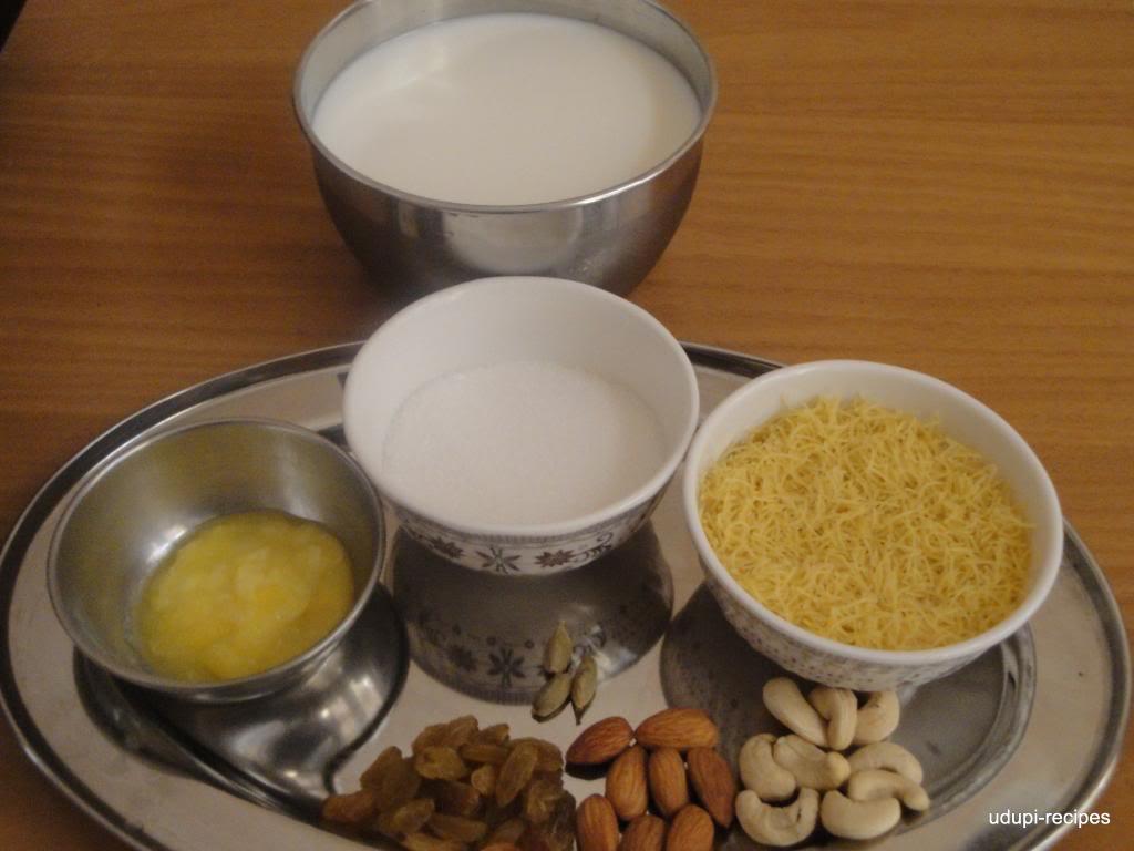 Vermicelli Kheer/Semiya Kheer/Shavige Kheer Recipe