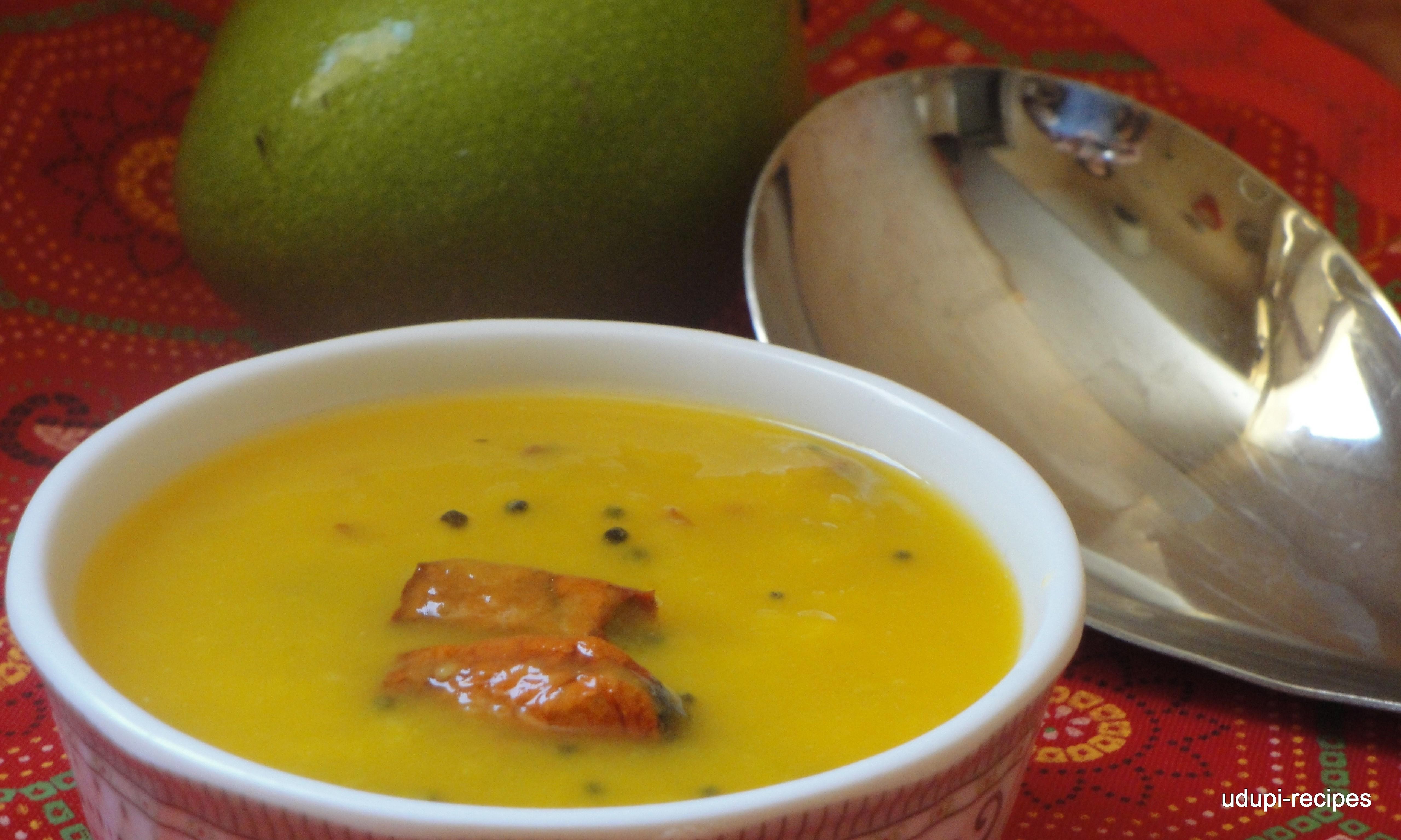 Raw Mango Recipes-Raw Mango Curry/Raw Mango Gojju without Coconut