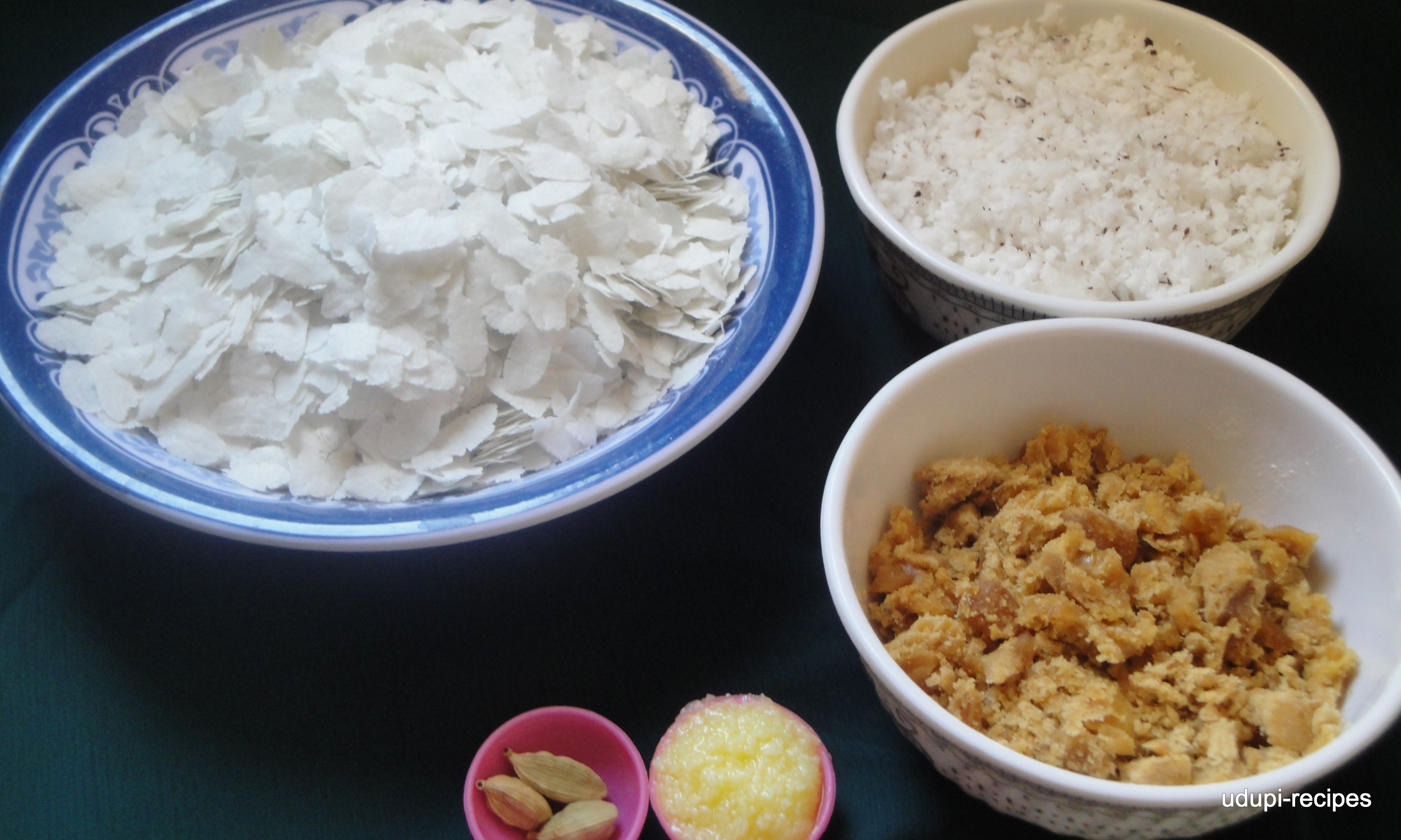 Aval Recipes-Sweet Poha/Sweet Aval/Pancha Kajjaya Recipe