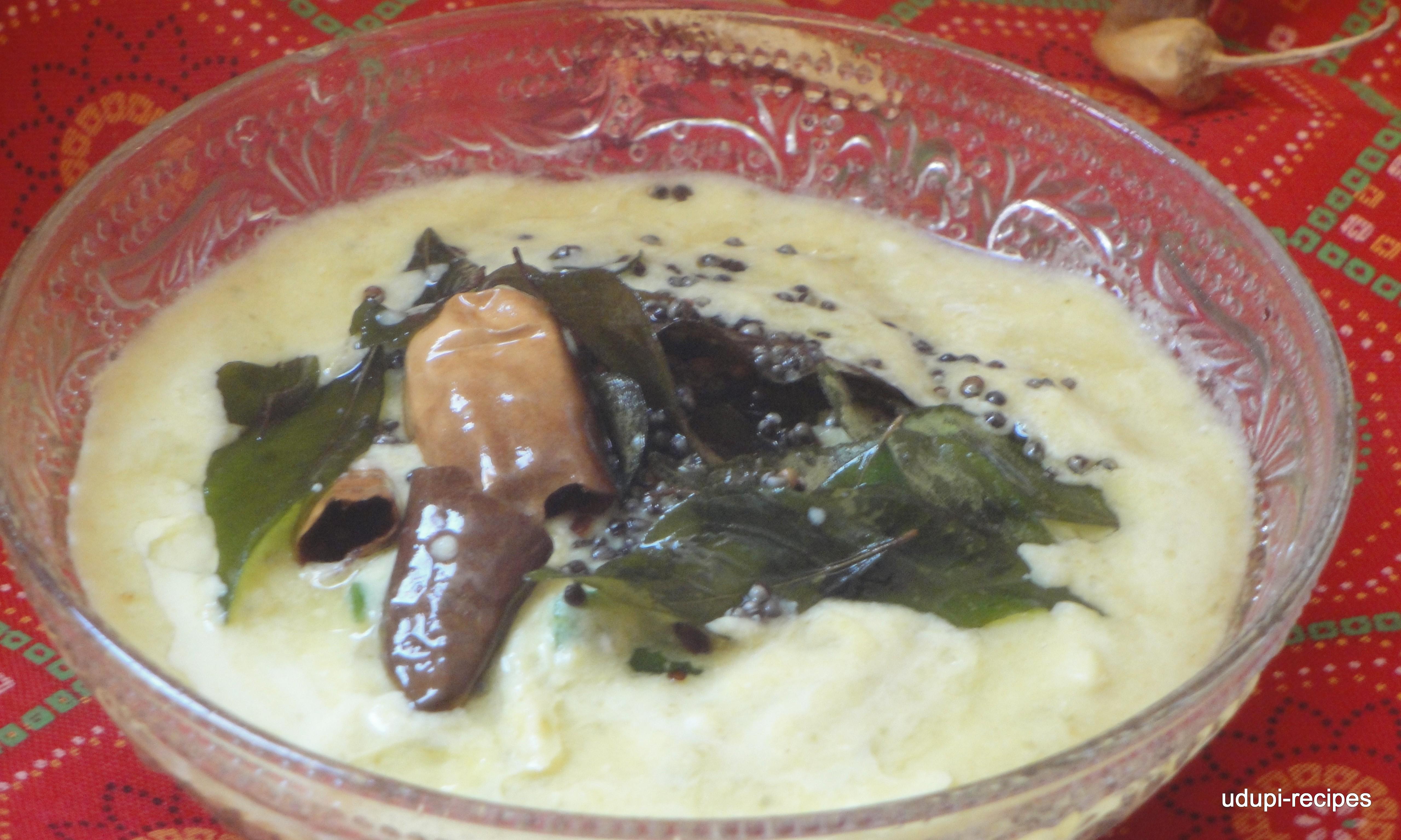 Brined Raw Mango Gojju   Salted Raw Mango Gojju Recipe