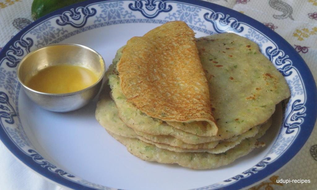 Cucumber Dosa(sweet)/Cucumber Sweet Dosa Recipe