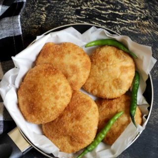 Kachori | Stuffed Poori | Biscuit Roti Recipe