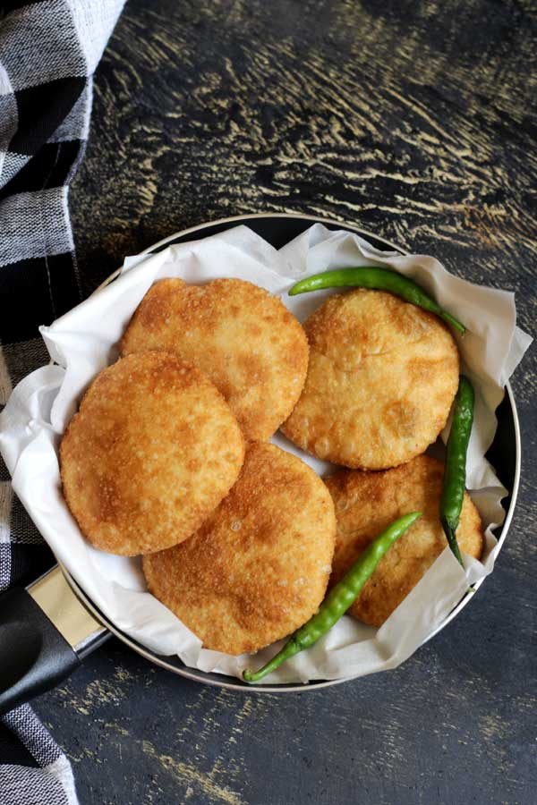 Kachori/Stuffed Poori/Biscuit Roti Recipe
