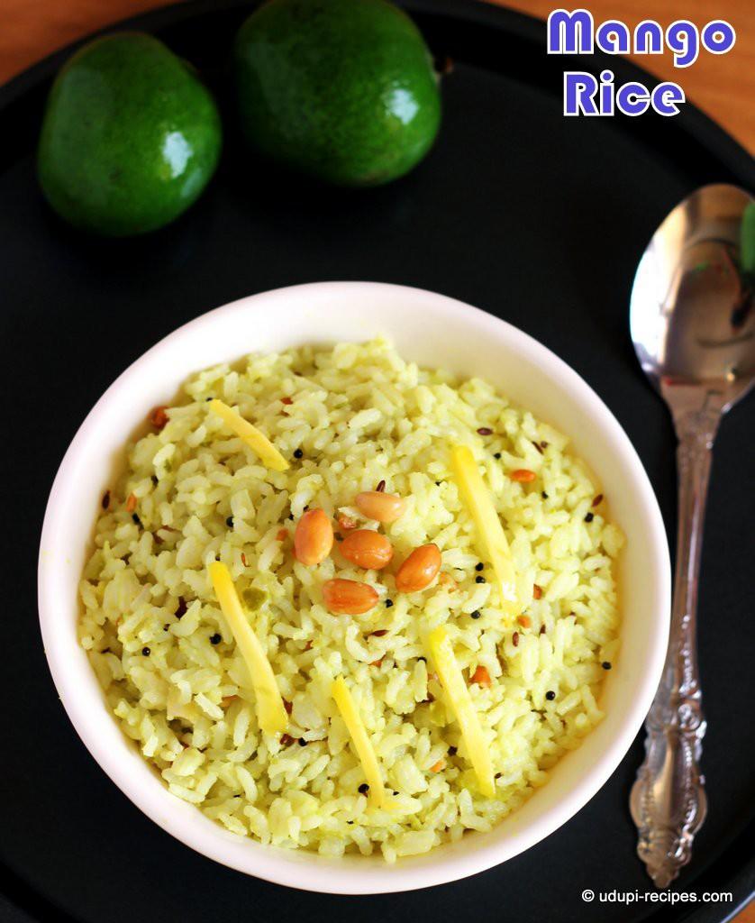 Raw Mango Recipes | Raw Mango Rice | Mango Chitranna Recipe - Udupi ...