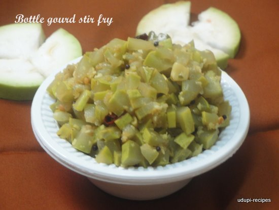 Bottle Gourd Recipe | Bottle Gourd Stirfry | Sorekayi Palya Recipe
