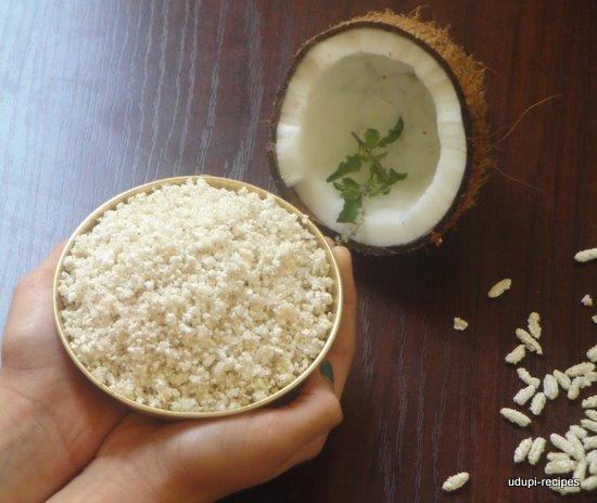 Puffed paddy panchakajjaya ready
