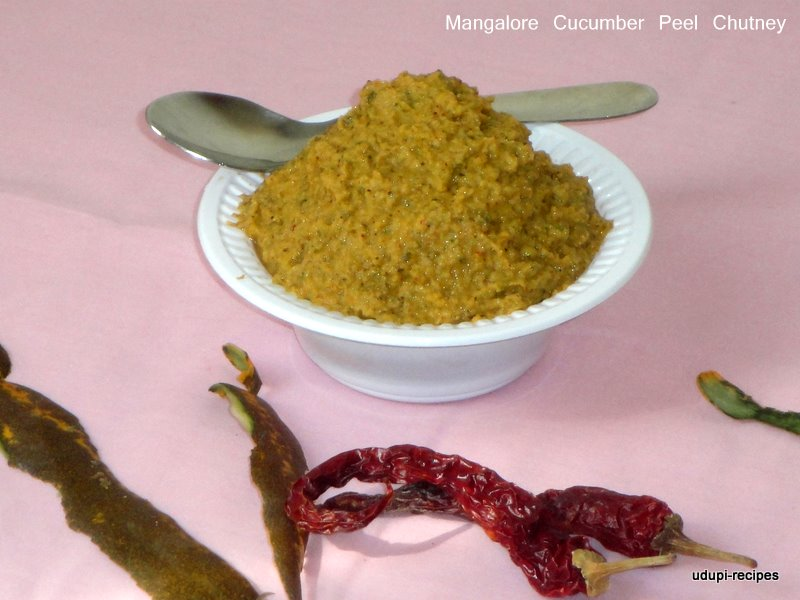 mangalore cucumber peel chutney