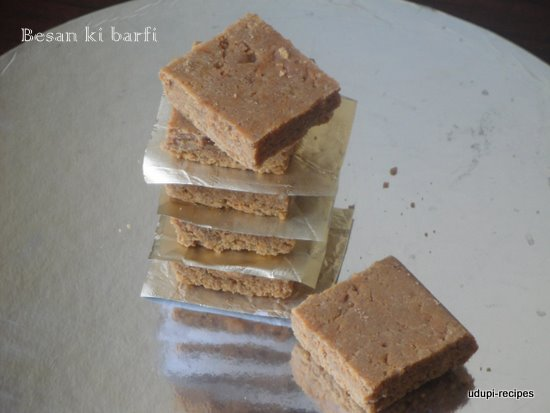 Besan ki Barfi | Gram Flour Barfi Recipe - Udupi Recipes