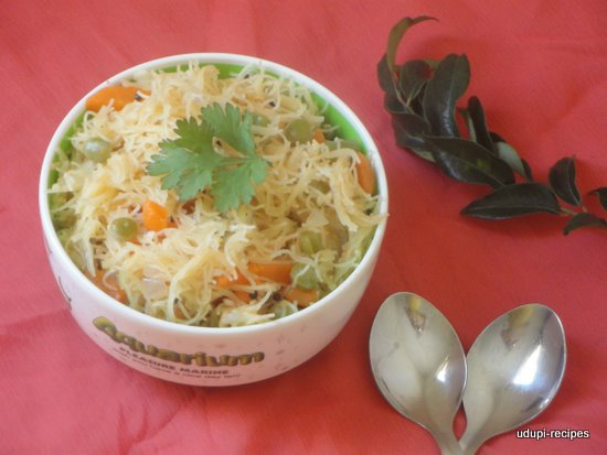 Vermicelli Upama | Semiya Upama Recipe
