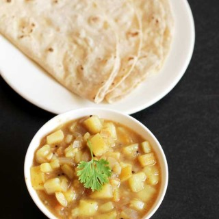 Potato Gravy Recipe | Chapati Side Dish