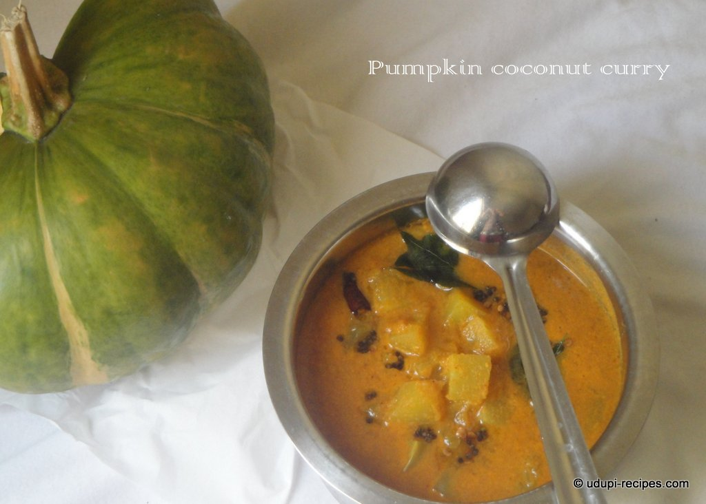 sweet pumpkin coconut curry