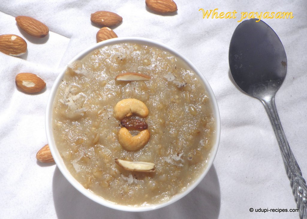 Whole Wheat Payasam Recipe
