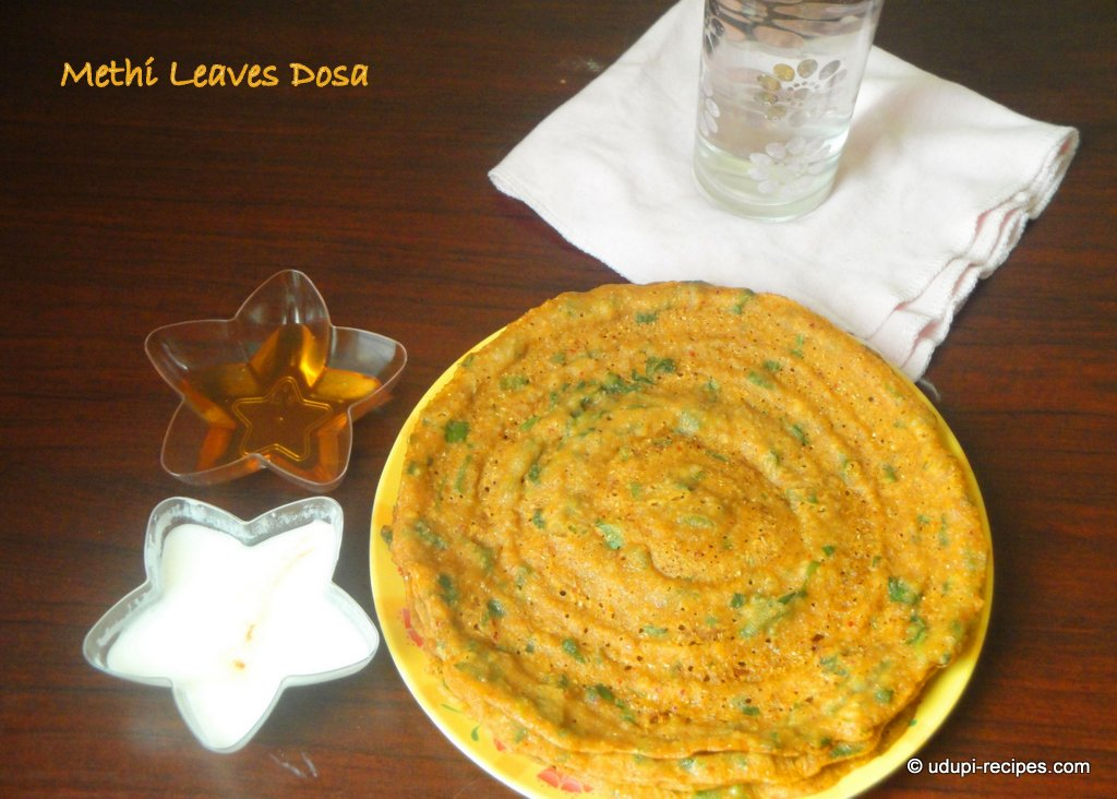 Methi Leaves Dosa Recipe