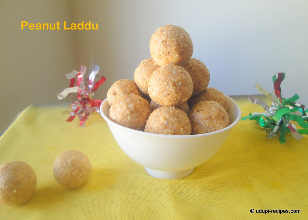 Peanut Laddu Recipe | Groundnut Laddu Recipe