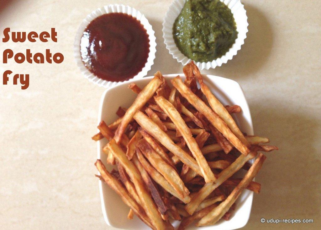sweet potato fry ready