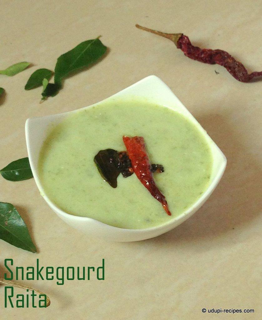 Snake gaurd raitha ready