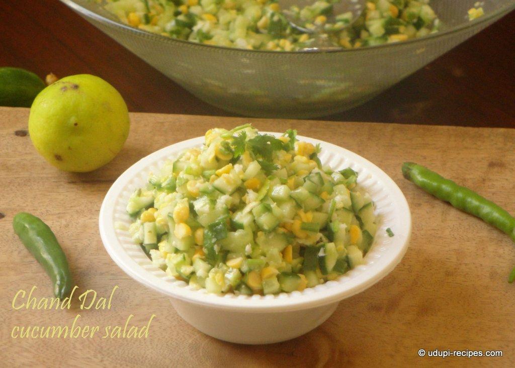 chana lentil cucumber salad