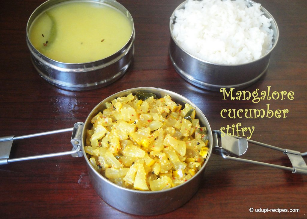 mangalore cucumber stirfry