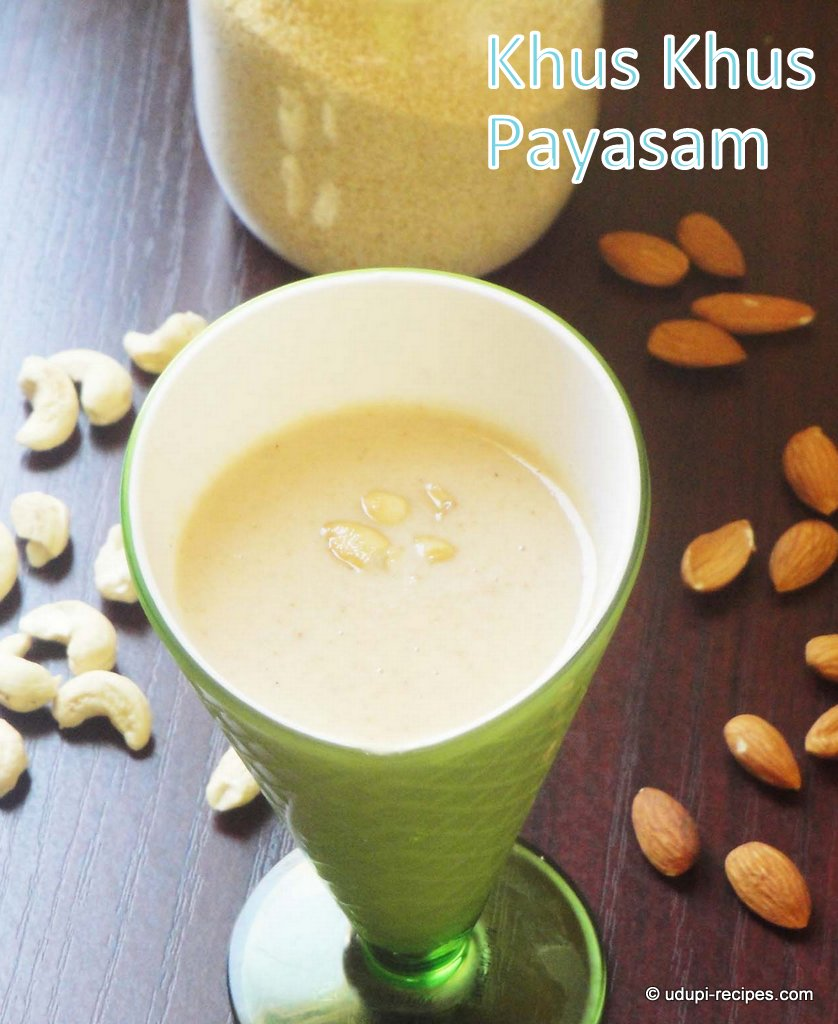 Khus Khus Payasam | Poppy Seeds Kheer Recipe
