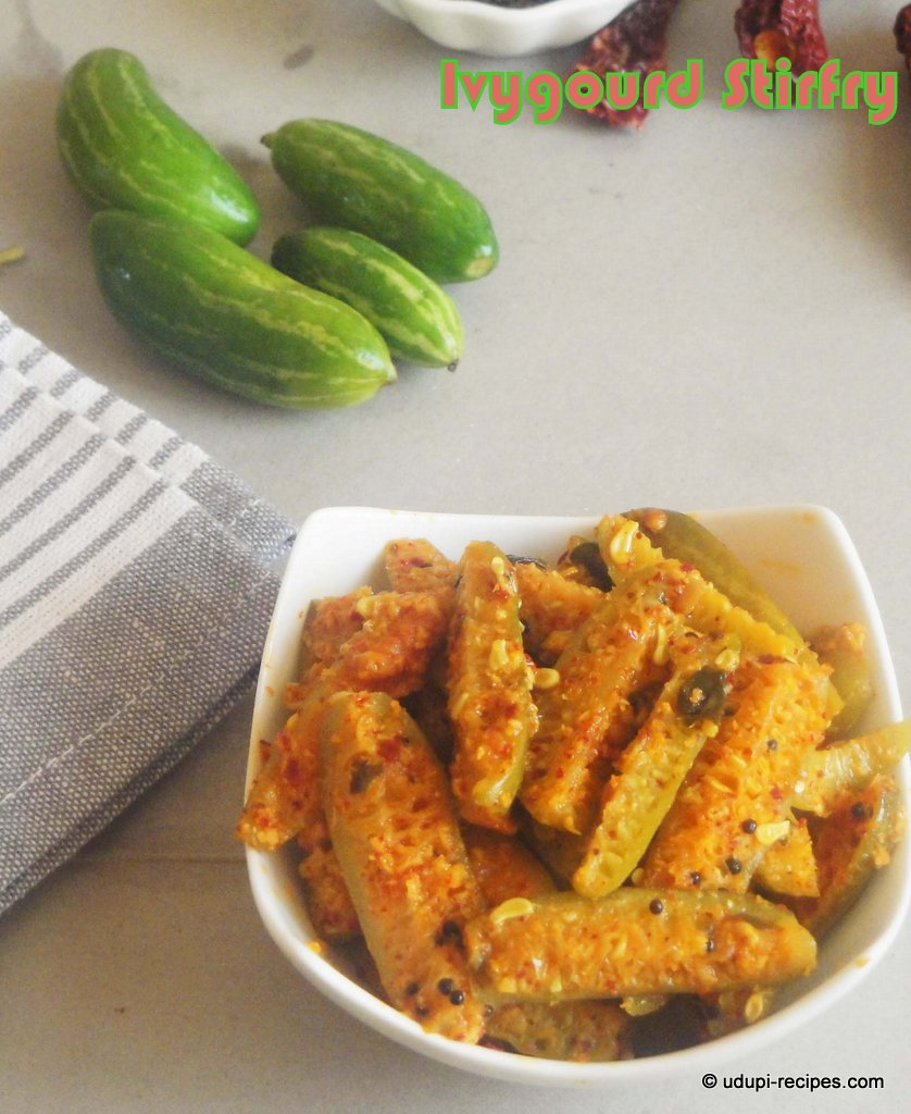 Ivy Gourd Stir fry | Tindora Stir fry Recipe