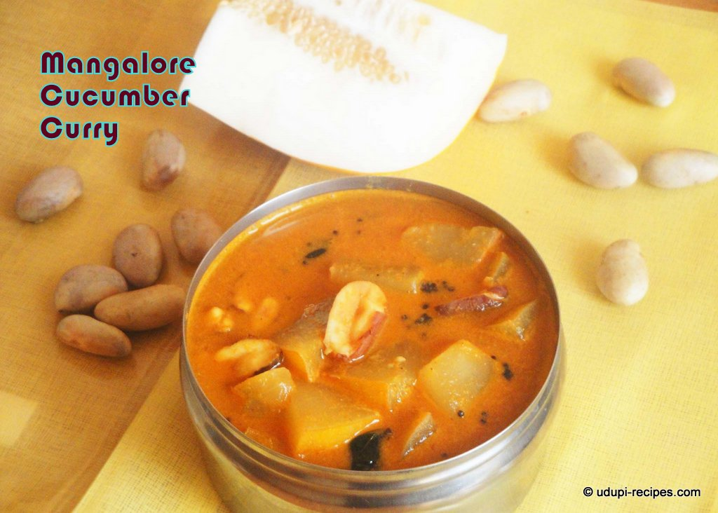 Mangalore Cucumber Curry with Jackfruit Seeds