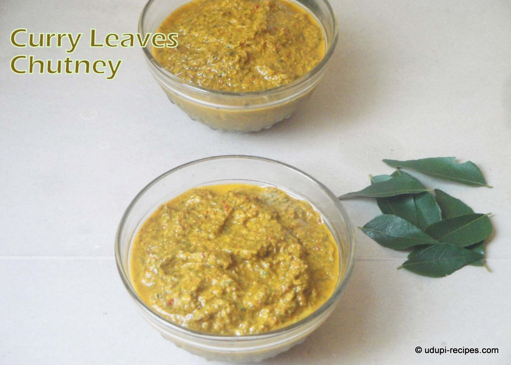 Curry Leaves Chutney Recipe | Side dish with Idli, Dosa, Rice