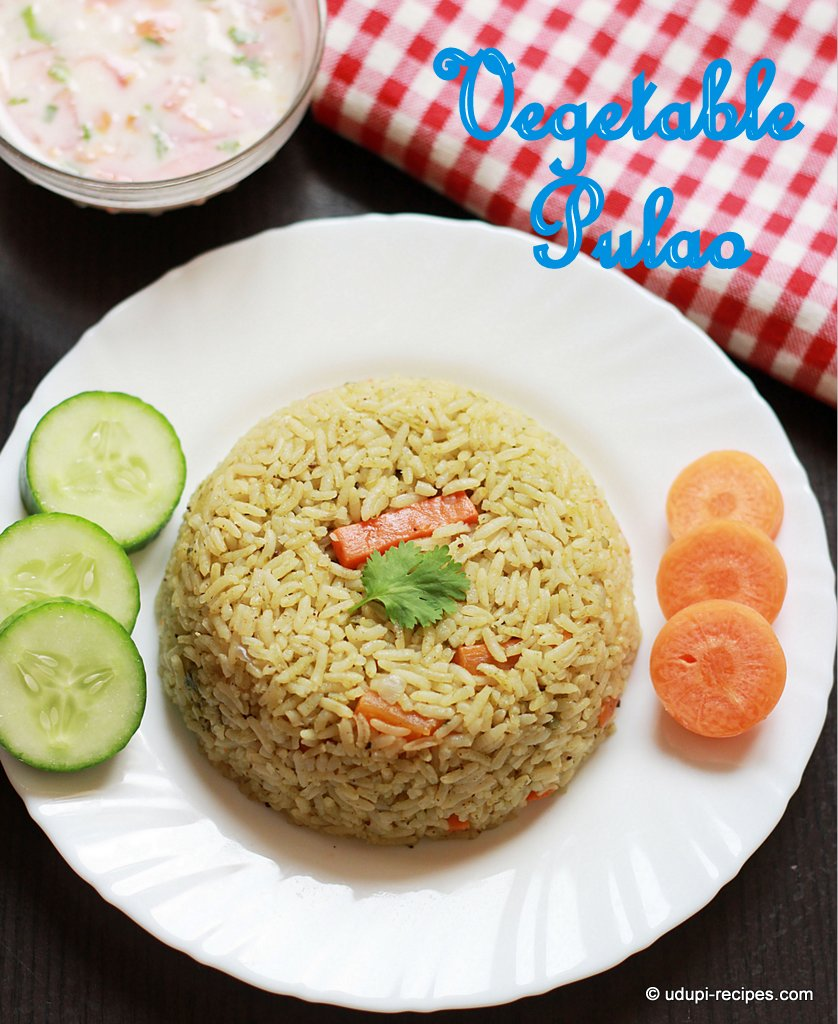 Vegetable pulao ready