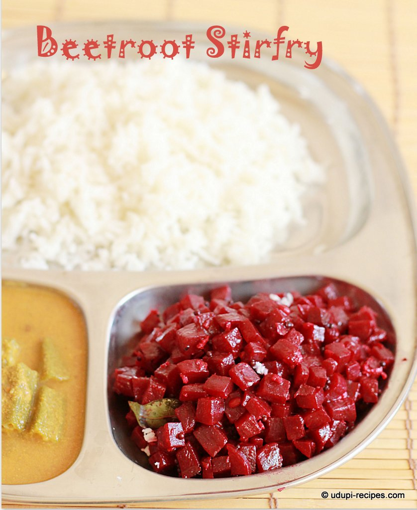 Beetroot Stir fry Recipe