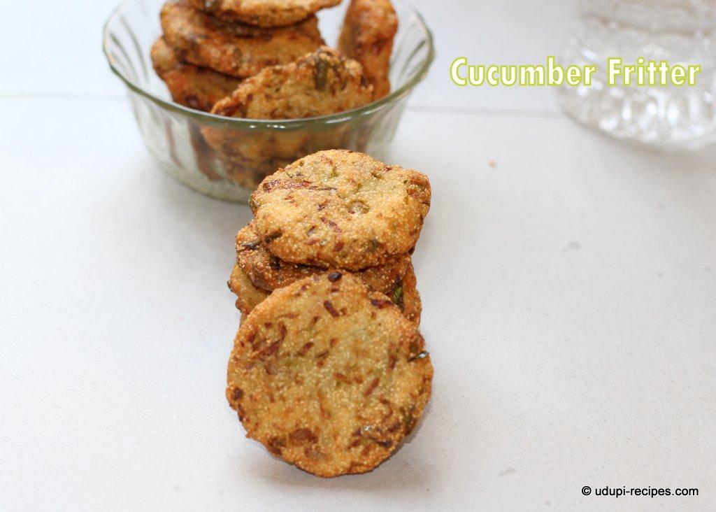 Cucumber Fritters | Cucumber Vadai Recipe