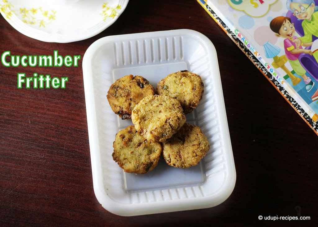 cucumber fritters
