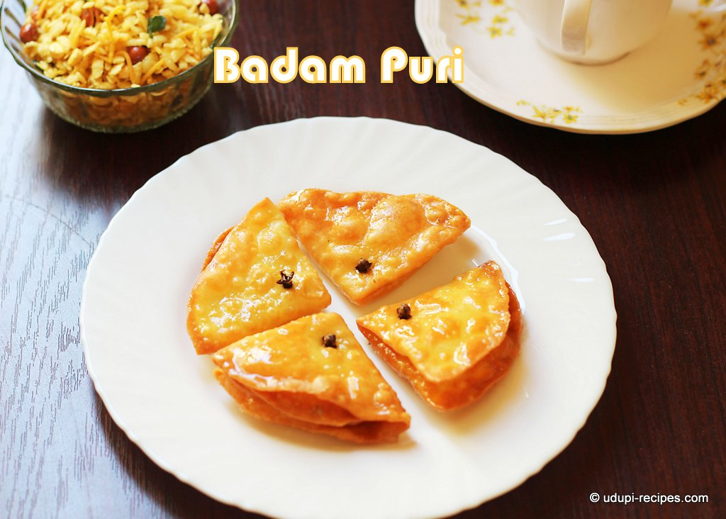 Badam puri badam puri recipe diwali sweet udupi recipes tasty badam puri forumfinder Gallery