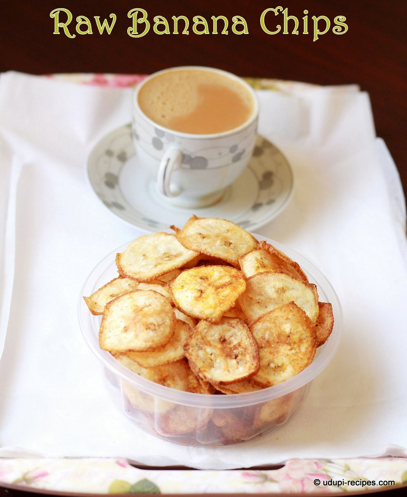 Raw Banana Chips | Raw Plantain Chips Recipe