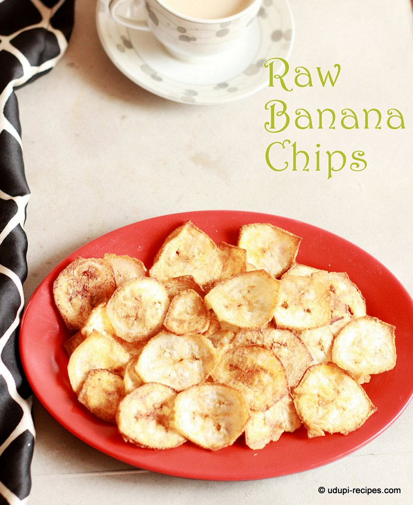 Raw banana chips ready