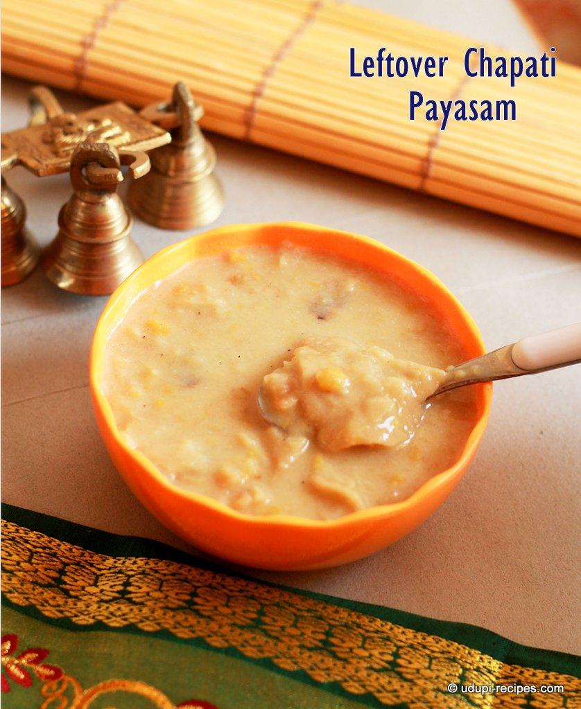 Leftover Chapati Payasam | Leftover Chapati Kheer Recipe