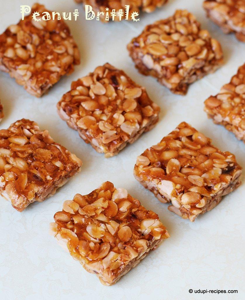 Peanut Brittle | Peanut Chikki Recipe