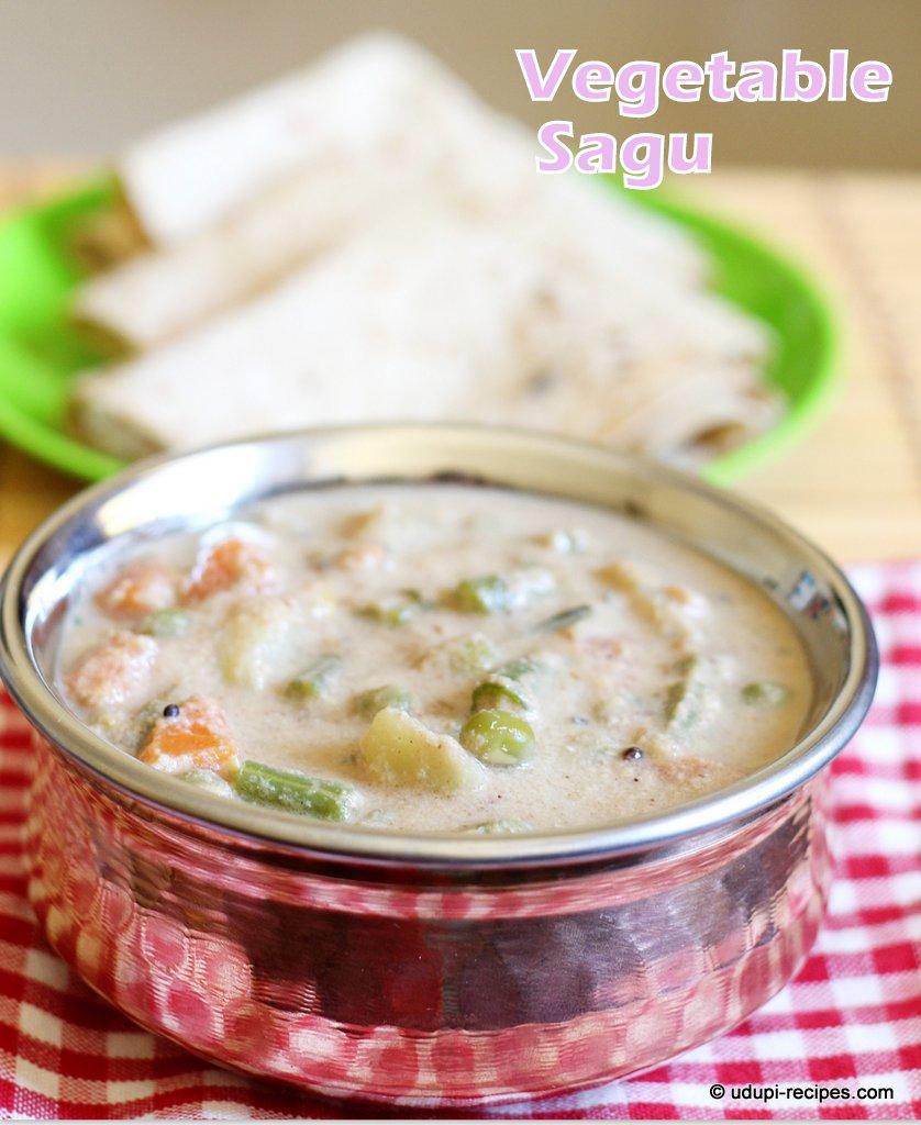 Vegetable Sagu Recipe | Chapati Side dish | No onion, No Garlic