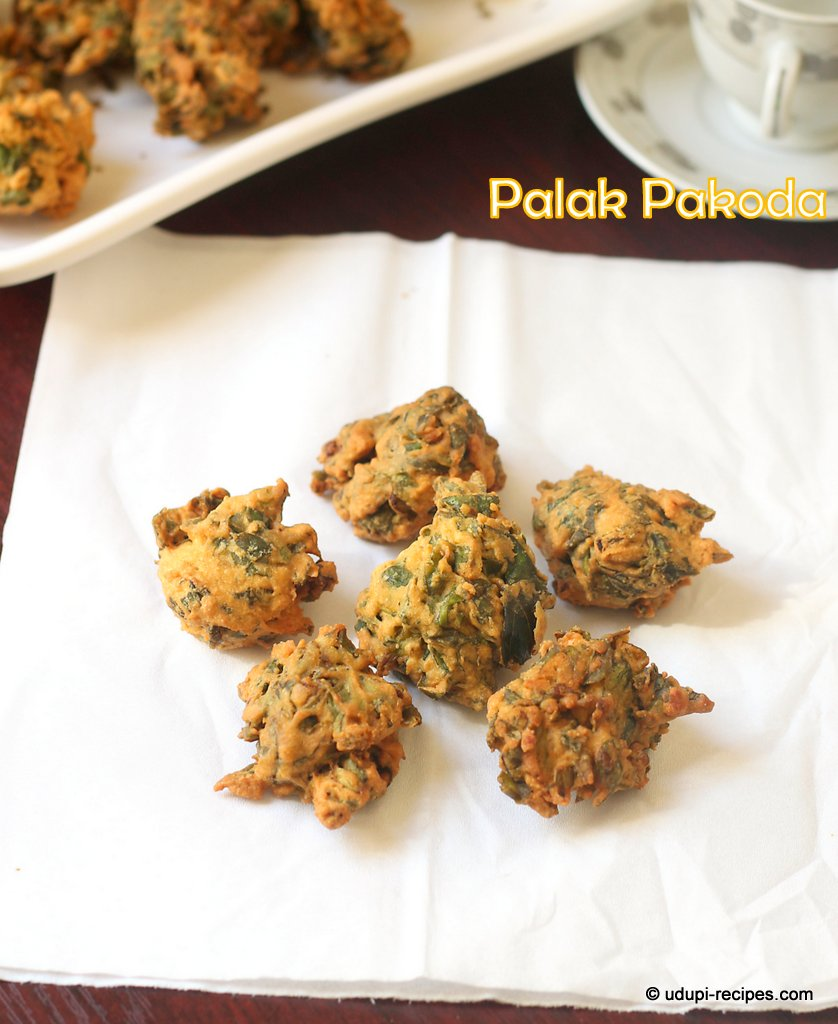 Easy tea time snack palak pakoda