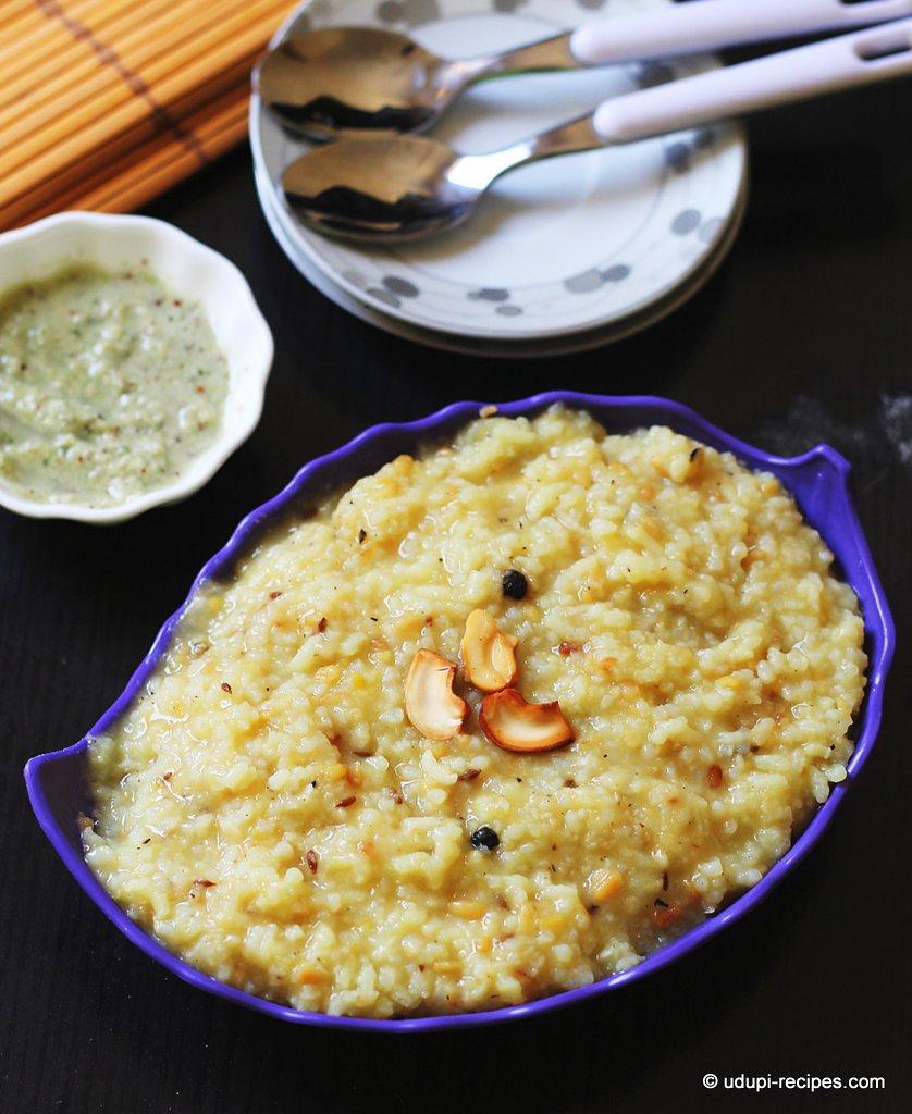 Khara Pongal Recipe Kannadiga Style