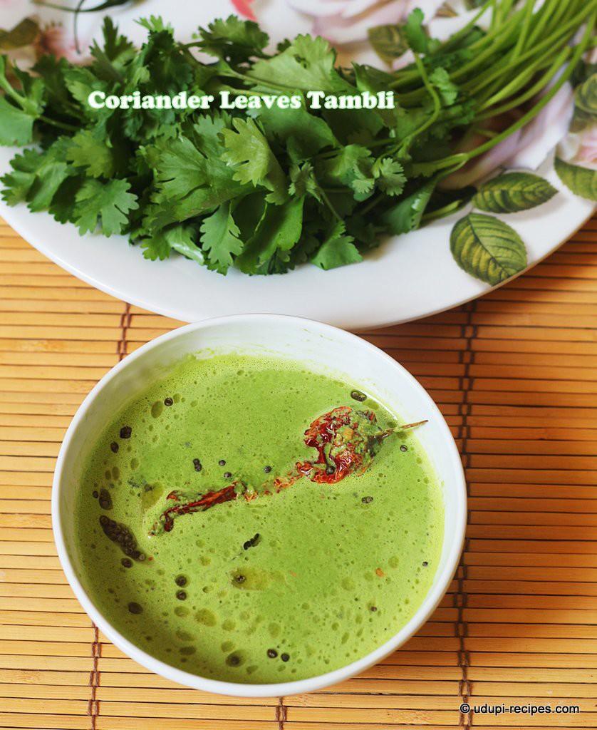 coriander leaves tambli #healthy rice side dish