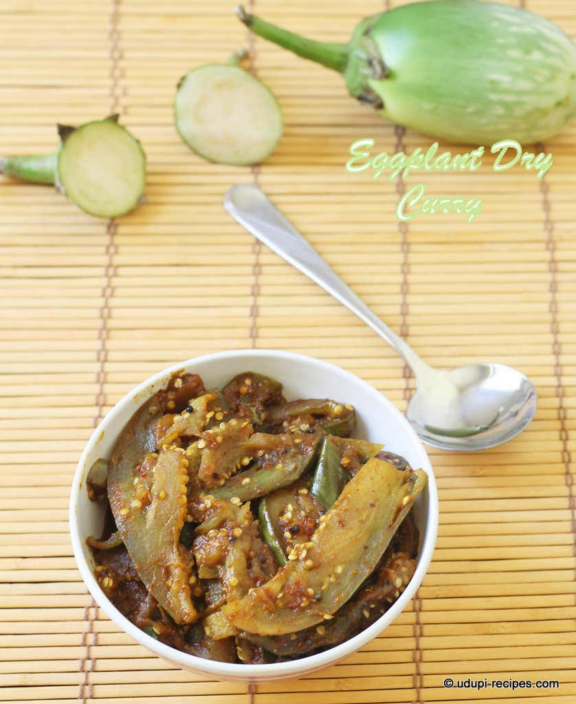 Eggplant Dry Curry in Udupi Style