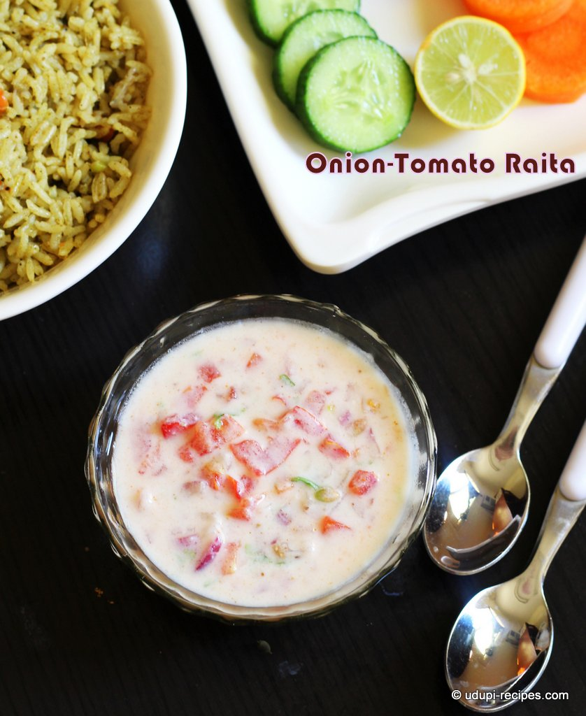 Onion Tomato Raita Recipe